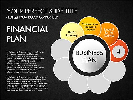 Business Plan Staged Flower Petal Diagram, Slide 15, 03160, Business Models — PoweredTemplate.com