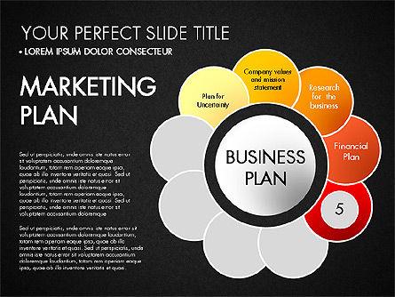 Business Plan Staged Flower Petal Diagram, Slide 16, 03160, Business Models — PoweredTemplate.com
