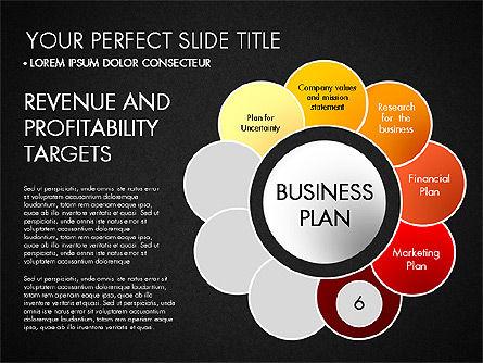Business Plan Staged Flower Petal Diagram, Slide 17, 03160, Business Models — PoweredTemplate.com