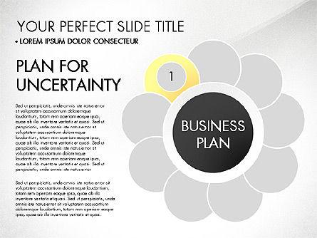 Business Plan Staged Flower Petal Diagram, Slide 2, 03160, Business Models — PoweredTemplate.com