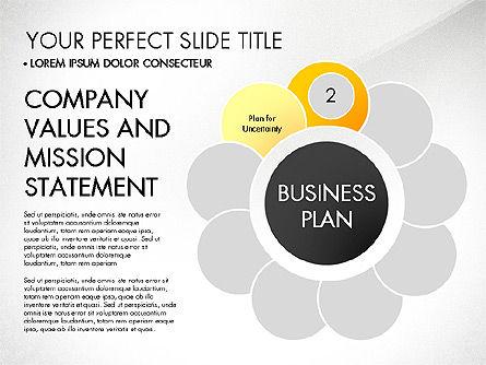 Business Plan Staged Flower Petal Diagram, Slide 3, 03160, Business Models — PoweredTemplate.com