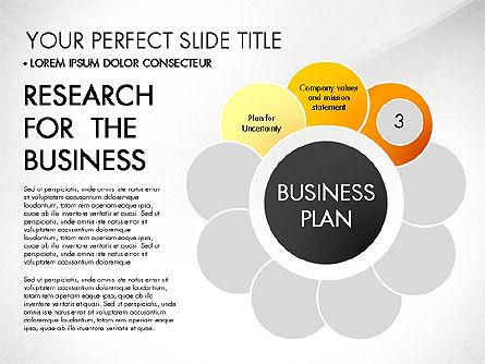 Business Plan Staged Flower Petal Diagram, Slide 4, 03160, Business Models — PoweredTemplate.com