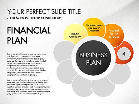 Business Plan Staged Flower Petal Diagram, Slide 5, 03160, Business Models — PoweredTemplate.com
