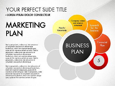 Business Plan Staged Flower Petal Diagram, Slide 6, 03160, Business Models — PoweredTemplate.com