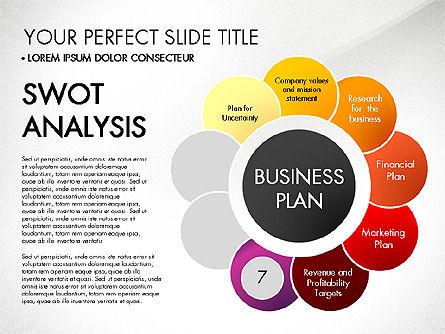 Business Plan Staged Flower Petal Diagram, Slide 8, 03160, Business Models — PoweredTemplate.com