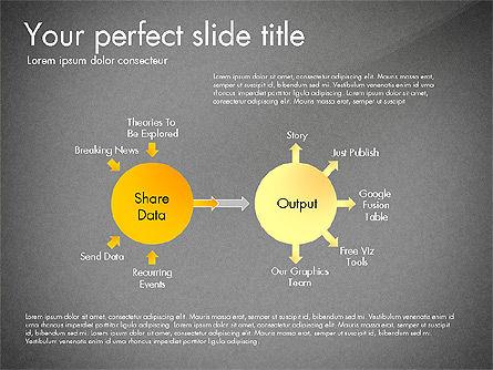 Sharing Calculation and Publish Data Process Diagram, Slide 14, 03161, Process Diagrams — PoweredTemplate.com