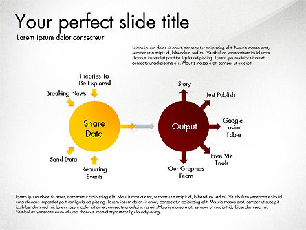 Sharing Calculation and Publish Data Process Diagram, Slide 6, 03161, Process Diagrams — PoweredTemplate.com