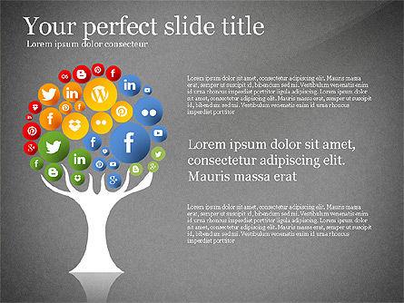 Social Tree Presentation Template, Slide 10, 03162, Presentation Templates — PoweredTemplate.com