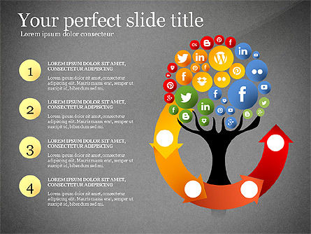 Social Tree Presentation Template, Slide 11, 03162, Presentation Templates — PoweredTemplate.com