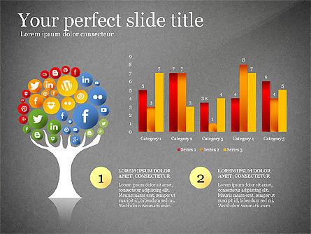 Social Tree Presentation Template, Slide 13, 03162, Presentation Templates — PoweredTemplate.com