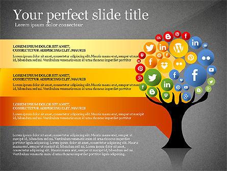 Social Tree Presentation Template, Slide 14, 03162, Presentation Templates — PoweredTemplate.com
