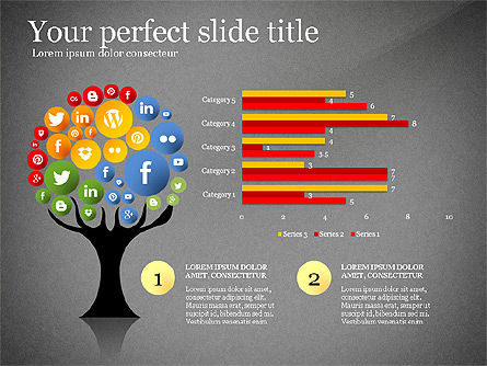 Social Tree Presentation Template, Slide 16, 03162, Presentation Templates — PoweredTemplate.com