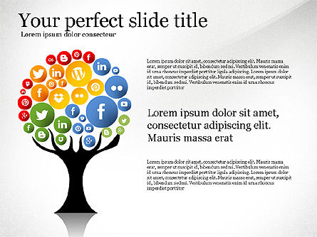 Social Tree Presentation Template, Slide 2, 03162, Presentation Templates — PoweredTemplate.com