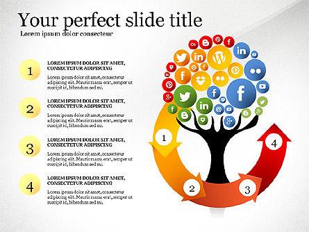 Social Tree Presentation Template, Slide 3, 03162, Presentation Templates — PoweredTemplate.com