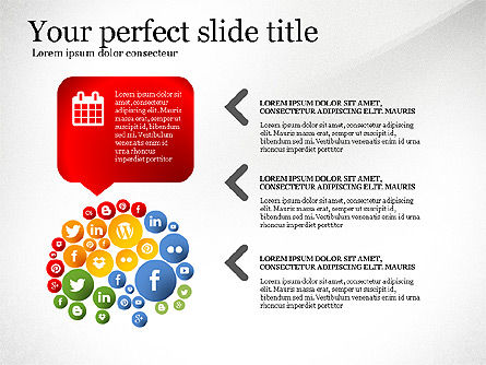 Social Tree Presentation Template, Slide 4, 03162, Presentation Templates — PoweredTemplate.com