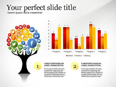 Social Tree Presentation Template, Slide 5, 03162, Presentation Templates — PoweredTemplate.com