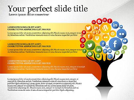 Social Tree Presentation Template, Slide 6, 03162, Presentation Templates — PoweredTemplate.com