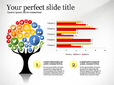 Social Tree Presentation Template, Slide 8, 03162, Presentation Templates — PoweredTemplate.com