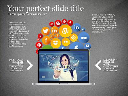 Social Tree Presentation Template, Slide 9, 03162, Presentation Templates — PoweredTemplate.com