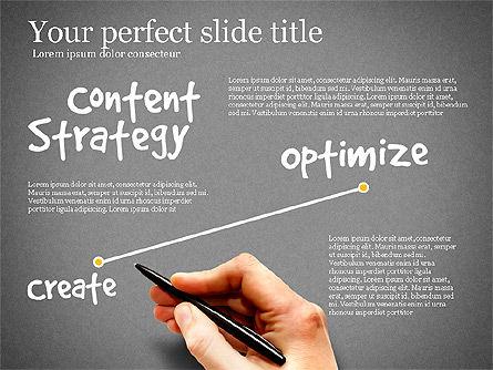 Content Strategy Process Diagram, Slide 10, 03164, Process Diagrams — PoweredTemplate.com