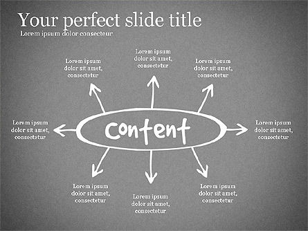 Content Strategy Process Diagram, Slide 11, 03164, Process Diagrams — PoweredTemplate.com