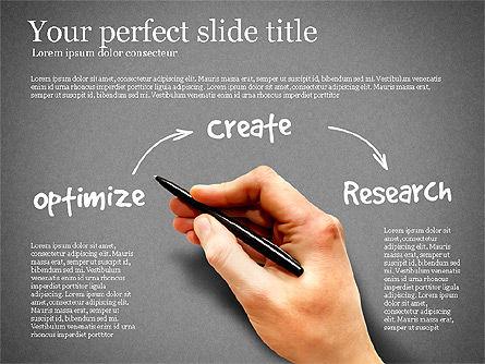 Content Strategy Process Diagram, Slide 12, 03164, Process Diagrams — PoweredTemplate.com