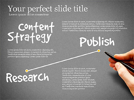 Content Strategy Process Diagram, Slide 13, 03164, Process Diagrams — PoweredTemplate.com