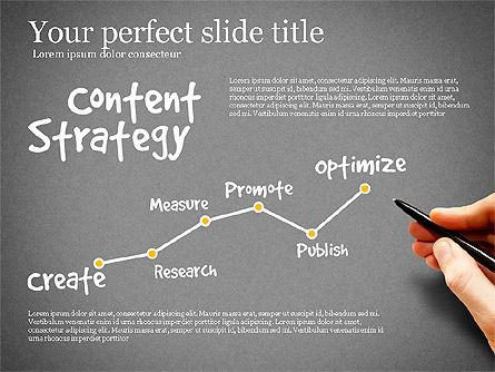 Content Strategy Process Diagram, Slide 15, 03164, Process Diagrams — PoweredTemplate.com
