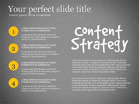Content Strategy Process Diagram, Slide 16, 03164, Process Diagrams — PoweredTemplate.com