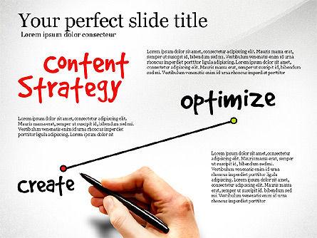 Content Strategy Process Diagram, Slide 2, 03164, Process Diagrams — PoweredTemplate.com