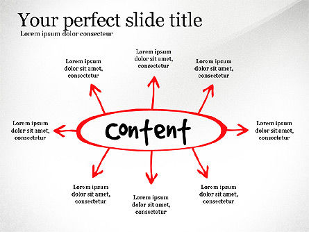 Content Strategy Process Diagram, Slide 3, 03164, Process Diagrams — PoweredTemplate.com