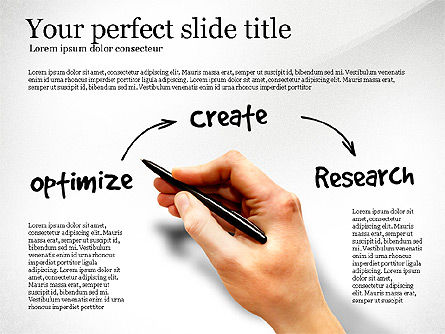 Content Strategy Process Diagram, Slide 4, 03164, Process Diagrams — PoweredTemplate.com