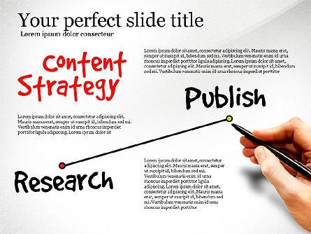 Content Strategy Process Diagram, Slide 5, 03164, Process Diagrams — PoweredTemplate.com