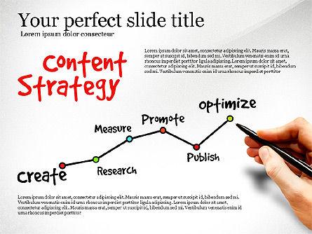 Content Strategy Process Diagram, Slide 7, 03164, Process Diagrams — PoweredTemplate.com