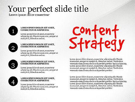 Content Strategy Process Diagram, Slide 8, 03164, Process Diagrams — PoweredTemplate.com