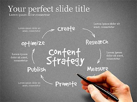 Content Strategy Process Diagram, Slide 9, 03164, Process Diagrams — PoweredTemplate.com