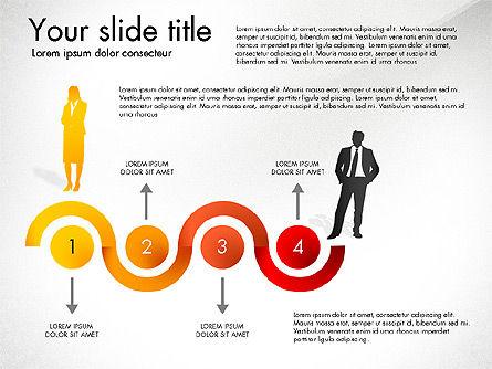 Achieving Success Diagram, Slide 3, 03165, Stage Diagrams — PoweredTemplate.com