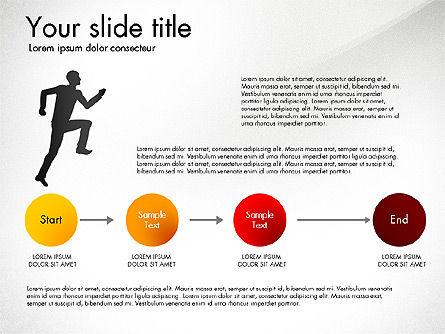 Achieving Success Diagram, Slide 4, 03165, Stage Diagrams — PoweredTemplate.com