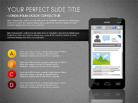 Navigation Mobile App Presentation Template, Slide 13, 03166, Presentation Templates — PoweredTemplate.com