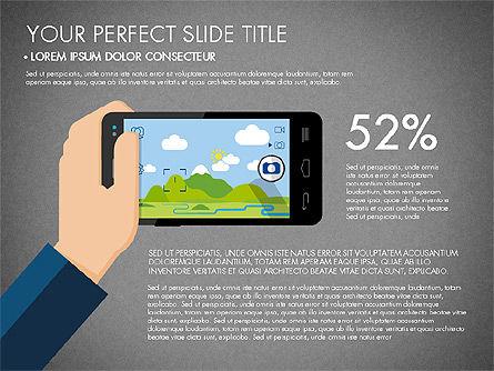 Navigation Mobile App Presentation Template, Slide 14, 03166, Presentation Templates — PoweredTemplate.com
