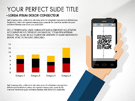 navigation mobile app presentation template for powerpoint