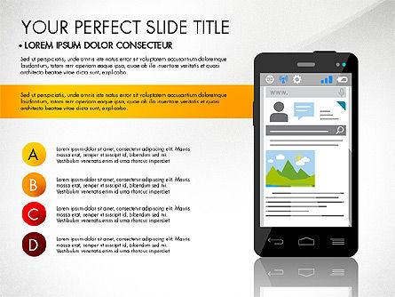 Navigation Mobile App Presentation Template, Slide 5, 03166, Presentation Templates — PoweredTemplate.com