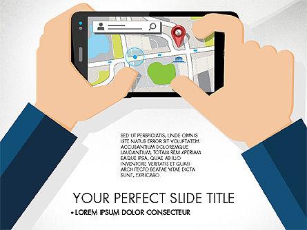 Navigation Mobile App Presentation Template, Slide 8, 03166, Presentation Templates — PoweredTemplate.com