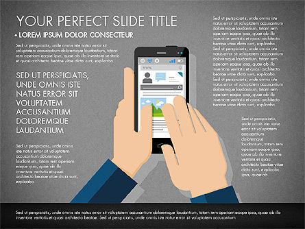 Navigation Mobile App Presentation Template, Slide 9, 03166, Presentation Templates — PoweredTemplate.com