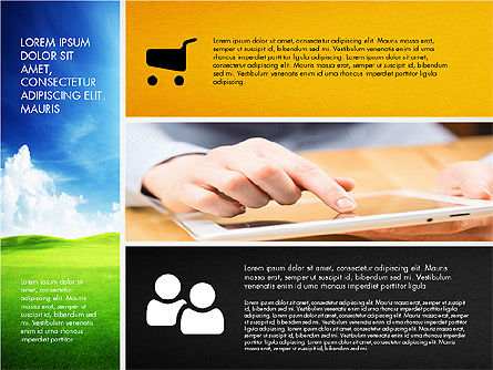 Modern Presentation with Photos, 03170, Presentation Templates — PoweredTemplate.com