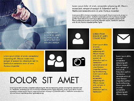 Modern Presentation with Photos, Slide 3, 03170, Presentation Templates — PoweredTemplate.com