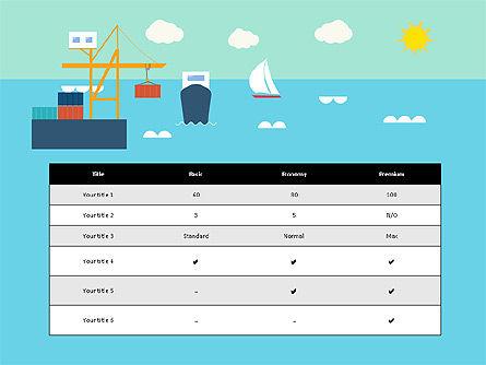 Transportation Presentation Template, Slide 16, 03171, Presentation Templates — PoweredTemplate.com