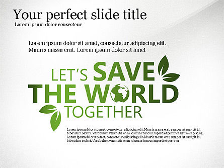 Save the World Together, 03173, Presentation Templates — PoweredTemplate.com