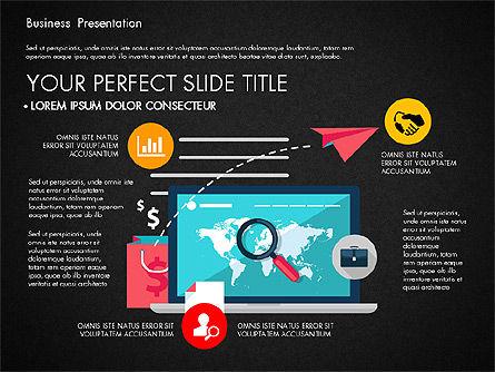 Illustrative Pitch Deck, Slide 12, 03174, Presentation Templates — PoweredTemplate.com
