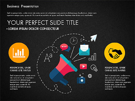 Illustrative Pitch Deck, Slide 14, 03174, Presentation Templates — PoweredTemplate.com